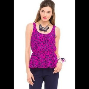 Lilly Pulitzer Silk Pink Leopard Print Blouse